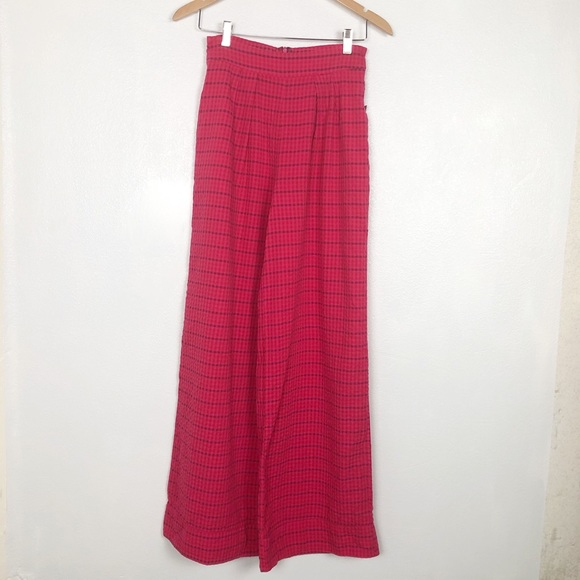 Anthropologie Pants - Anthropologie pink checked plaid pants